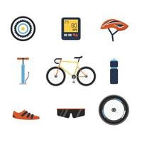 Bike Equipment Icon Collection vector
