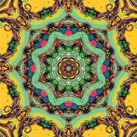 caleidoscopio geométrico multicolor de patrones sin fisuras vector