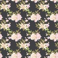 concepto de flor de diseño de patrones sin fisuras vector