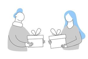 Give each other gifts vector