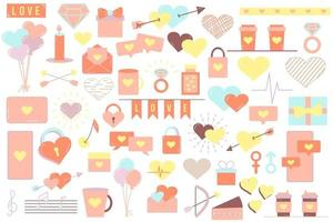 Set of elements for Valentines Day vector