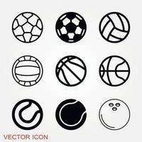 Sport Ball Icon Vector