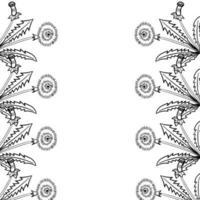 dandelion frame border vector