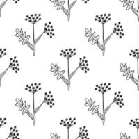 Angelica seamless pattern vector