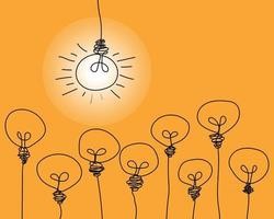 Light bulb and Brainstorm creative idea concept vector