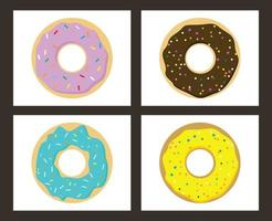 Sweet Donuts Set vector