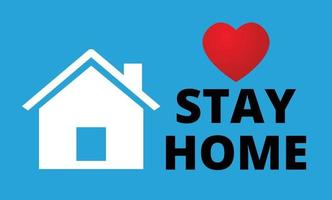 Stay home Concept vector