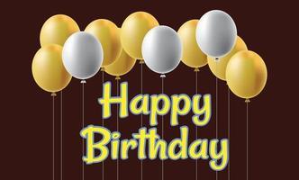 Happy Birthday Card vector design