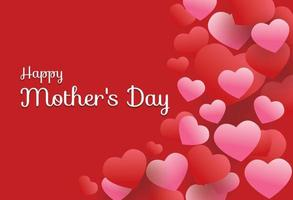 Happy Mother Day on Heart Background vector