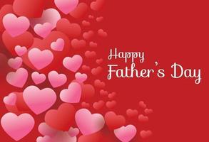 Happy Father Day on Heart Background vector