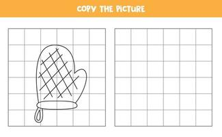 Copy the picture of cartoon potholder Logical game for kids vector
