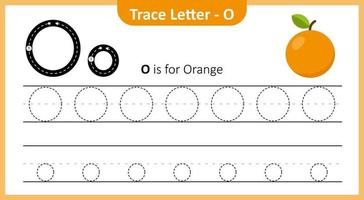 Trace Letter O vector
