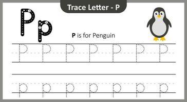 traza la letra p vector