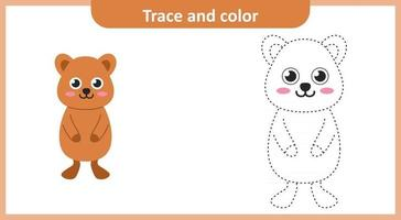 traza y color quokka vector
