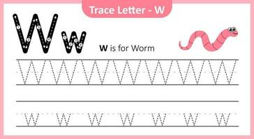Trace Letter W vector