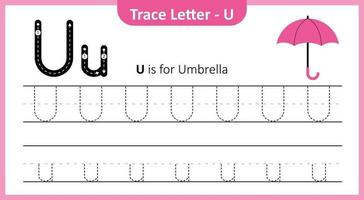 Trace Letter U vector
