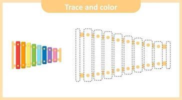 xilófono de rastreo y color vector