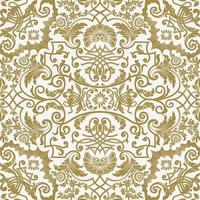 Vector seamless pattern with detailed floral elements
