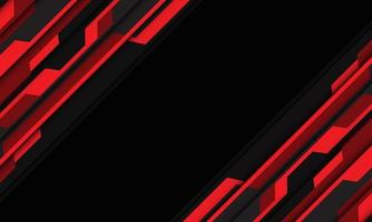 Abstract red grey cyber circuit slash dynamic with black blank space vector