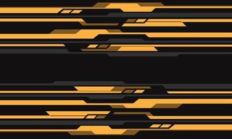Abstract yellow grey cyber circuit pattern vector