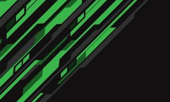 Abstract green grey cyber circuit futuristic background vector
