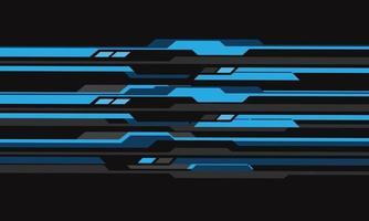 Abstract blue grey cyber circuit futuristic design vector