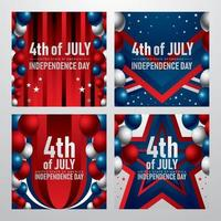 American Independence Day Card vector