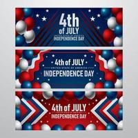 Independence Day Banner Concept vector