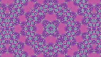 Neon Pink Iridescent Kaleidoscope Background video