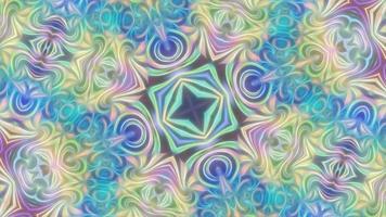 Bright Kaleidoscope Texture Background video