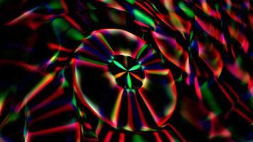 astratto sfondo scuro con dischi rossi rotanti video