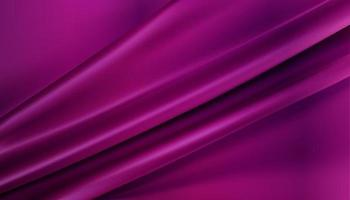 metallic pink silky fabric abstract background 3d illustration realistic swirled textile vector