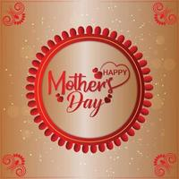 Realistic happy mother day celebration greeting card with creative typography vector