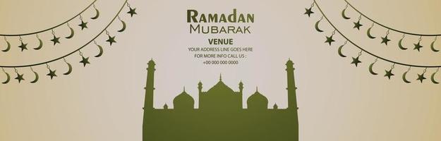 Ramadan mubarak vector banner