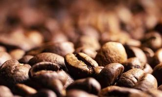 Pile of coffee beans texture photo