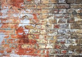 Old cracked brick wall texture photo