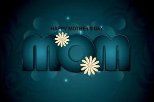 Creative typography for happy mother day invitation greeting card vector