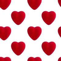 Patrón sin fisuras de corazón rojo, concepto de día de San Valentín foto