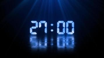 3 d contagem regressiva digital de 30 segundos video