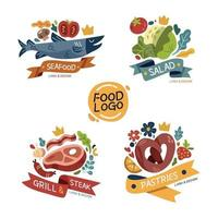 Four Type Of Cuisine Logo Design vector