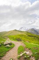 Mountain hiking path photo