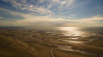 Panoramic shot of the beach photo