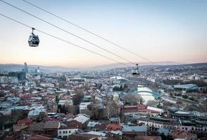 Tbilisi, Georgia, 2020 - Sunset view of Tbilisi photo