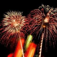 Fireworks show in the sky photo