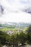 View of a village in a valley photo