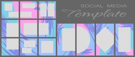 plantilla de banner de redes sociales vector