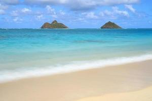 View of Lanikai Beach in Hawaii photo