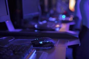 teclado de juego azul foto