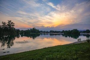Jarun Lake sunset photo