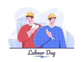 International Labor Day. Flat Vector Illustration International Workers Day design illustration